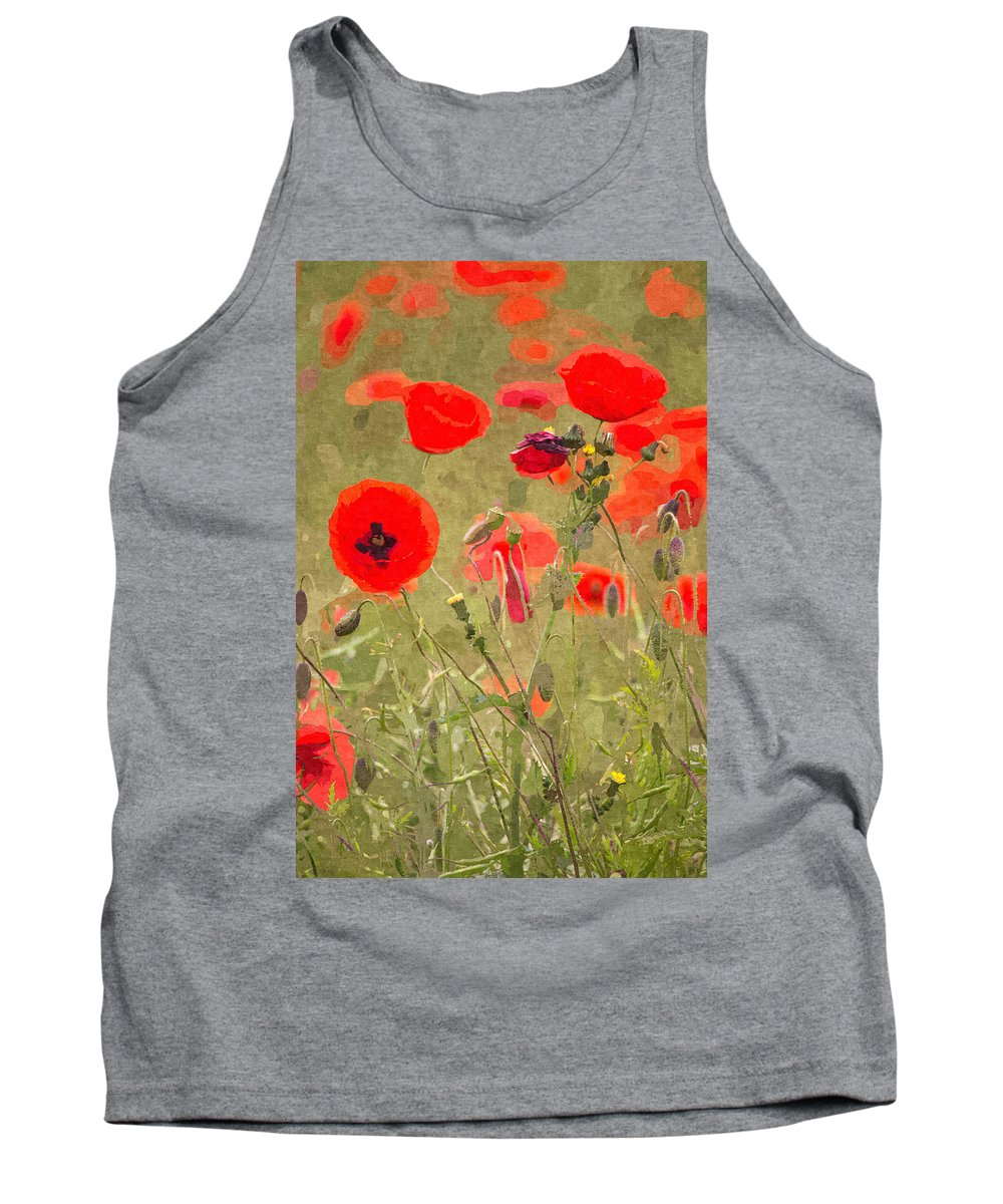 Remembrance Tank Top featuring the photograph Poppies X by David Pringle