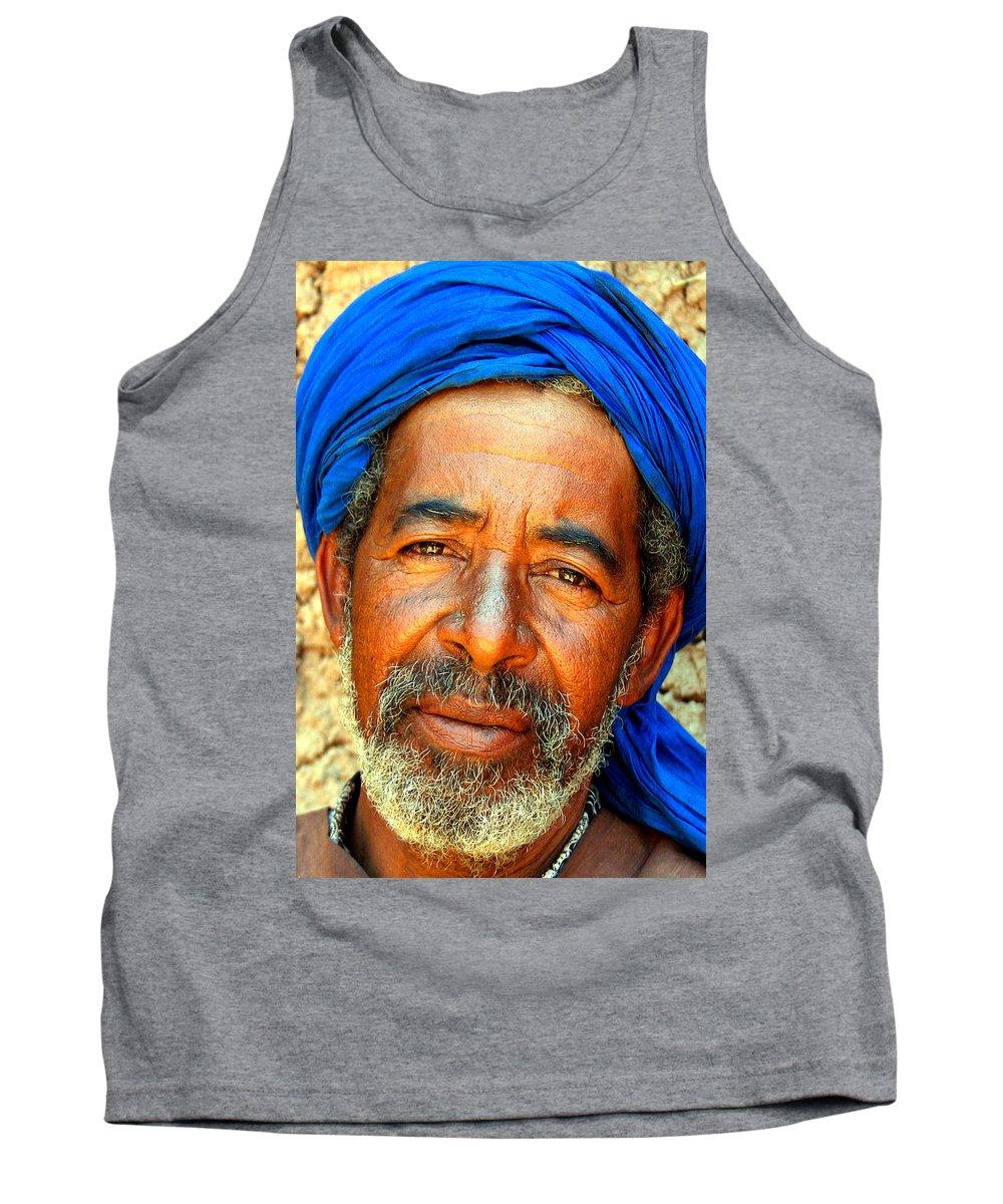 Berber Man Tank Top featuring the photograph Portrait Of A Berber Man by Ralph A Ledergerber-Photography