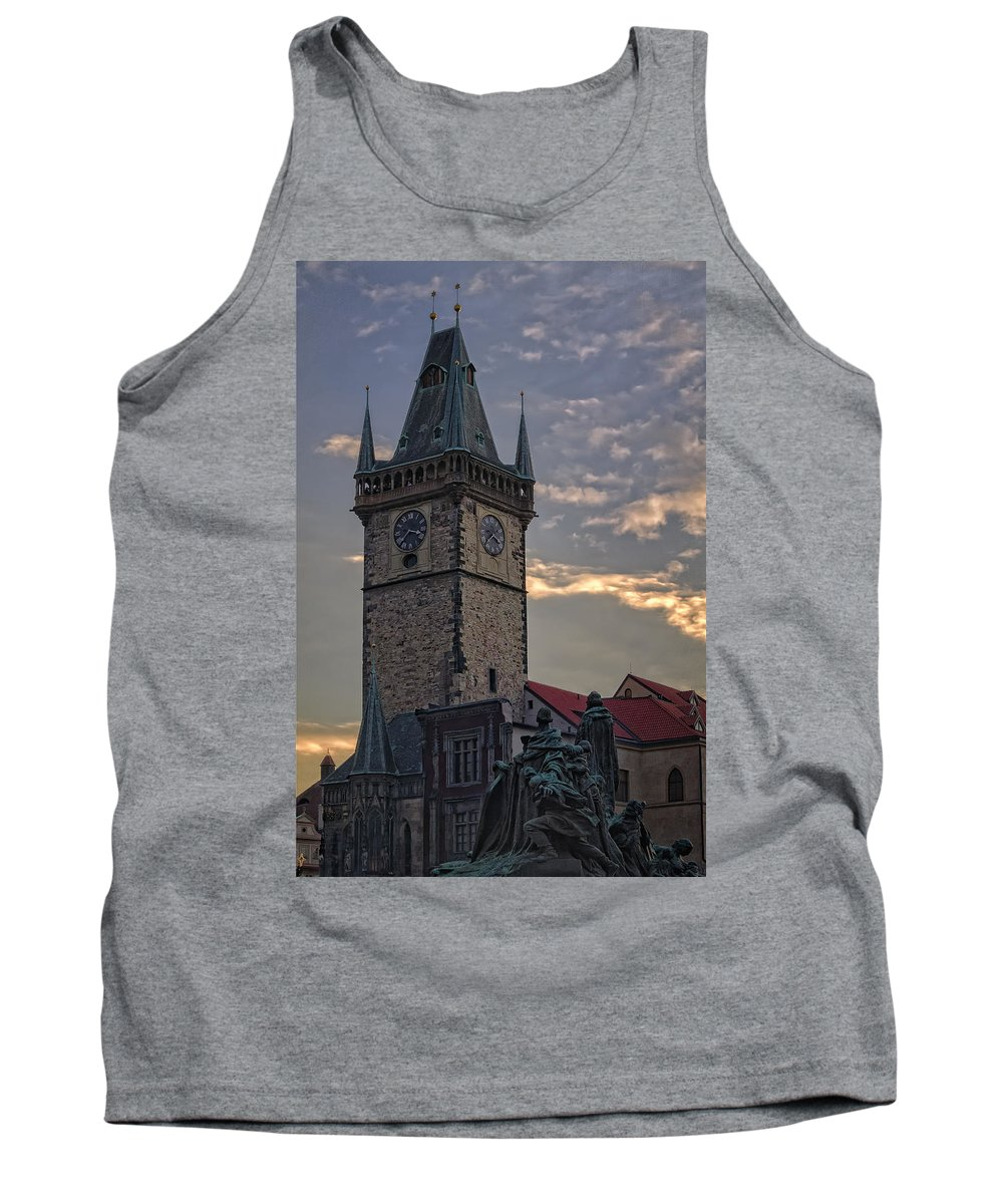 Joan Carroll Tank Top featuring the photograph Prague Old Town Hall by Joan Carroll