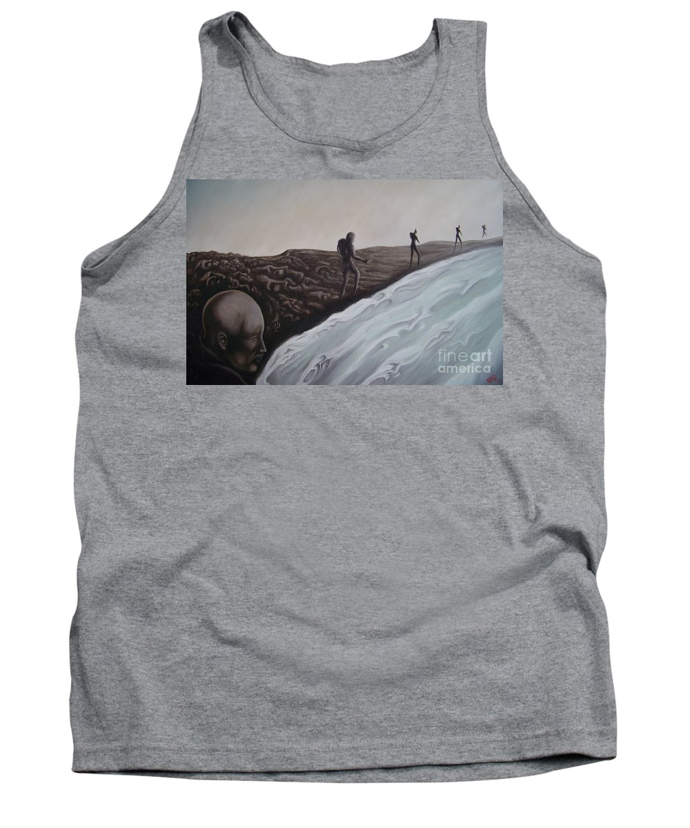 Tmad Tank Top featuring the painting Premonition by Michael TMAD Finney