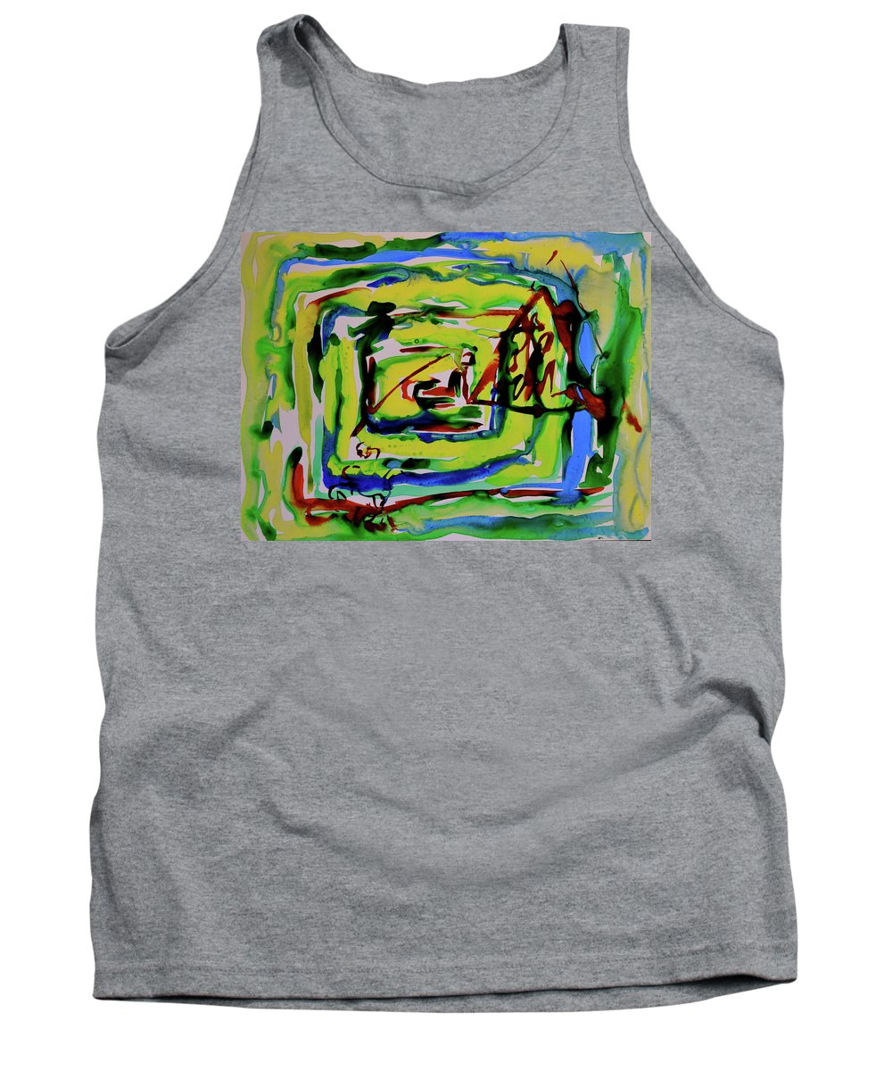 Primary Tank Top featuring the painting Primary Study IIi Into The Light by Beverley Harper Tinsley
