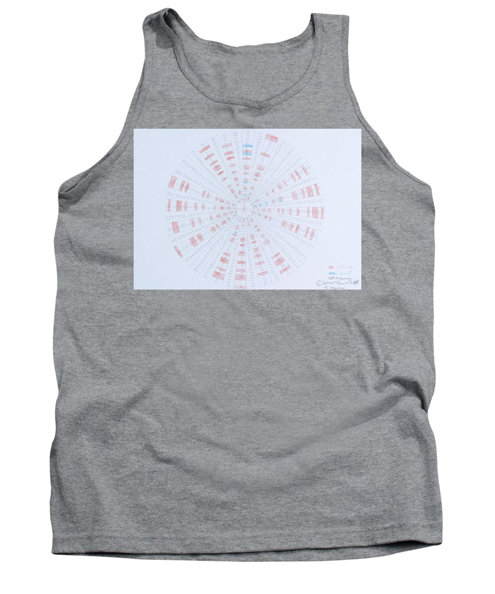 Prime Number Tank Top featuring the drawing Prime Number Pattern P Mod 40 by Jason Padgett