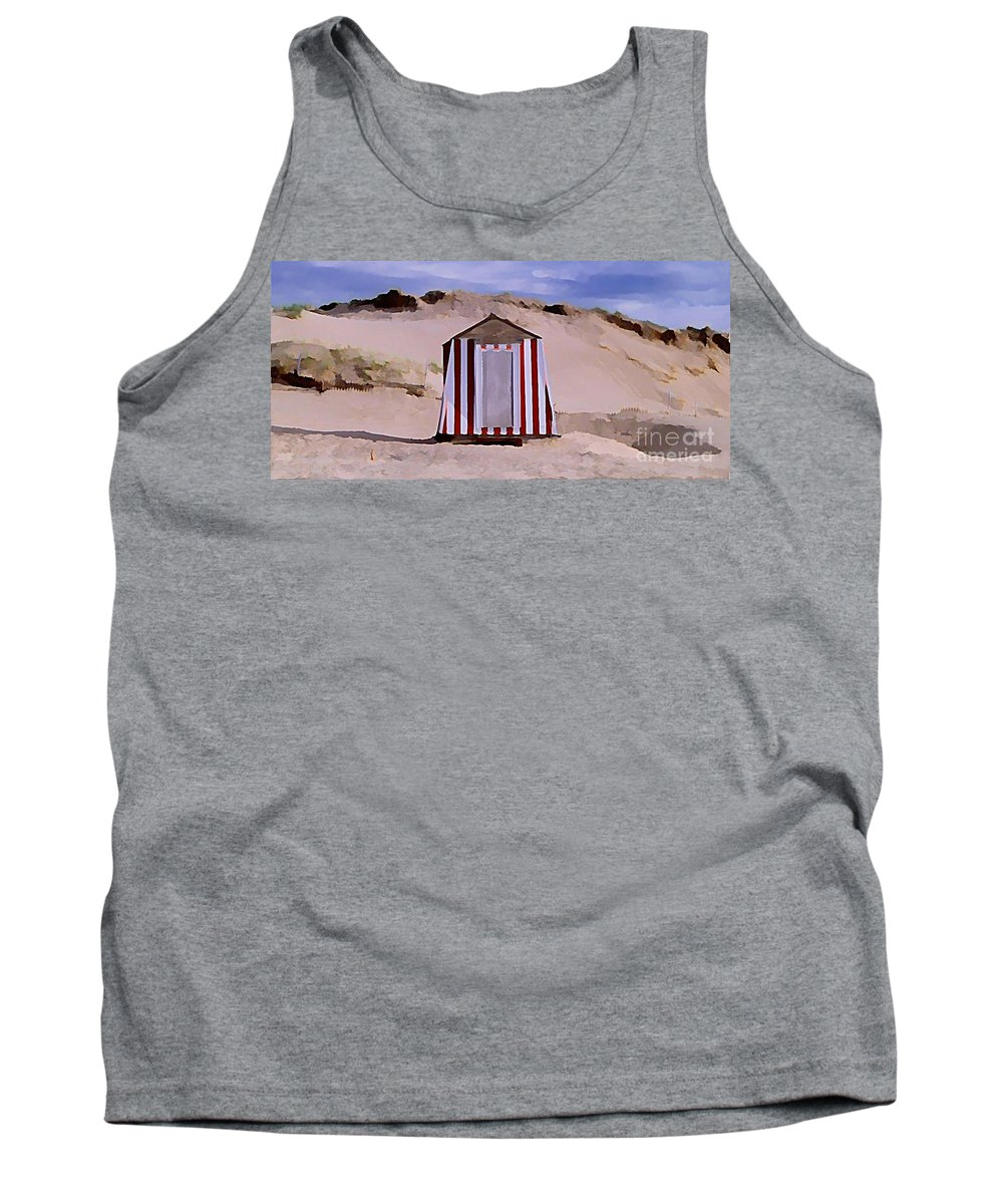 Sandy Beach Tank Top featuring the painting Privacy by John Malone