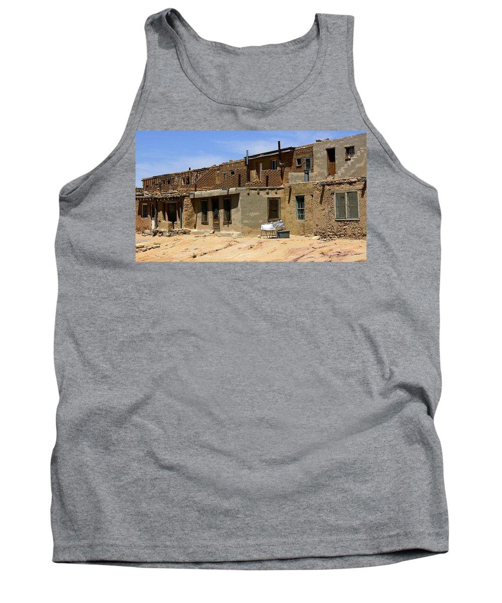 Pueblo Tank Top featuring the photograph Pueblo Yard Sale by Joe Kozlowski