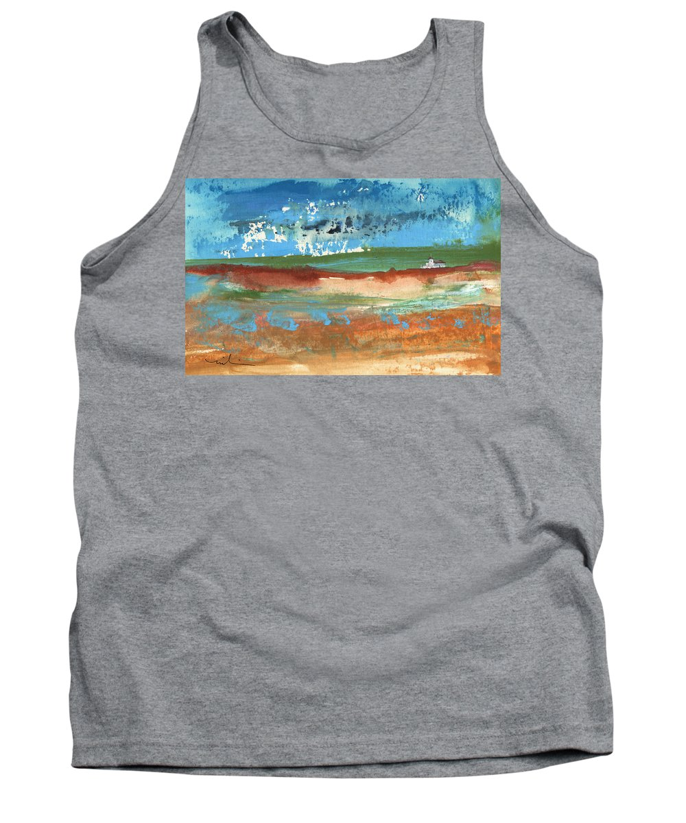 Travel Tank Top featuring the painting Puicheric 03 by Miki De Goodaboom