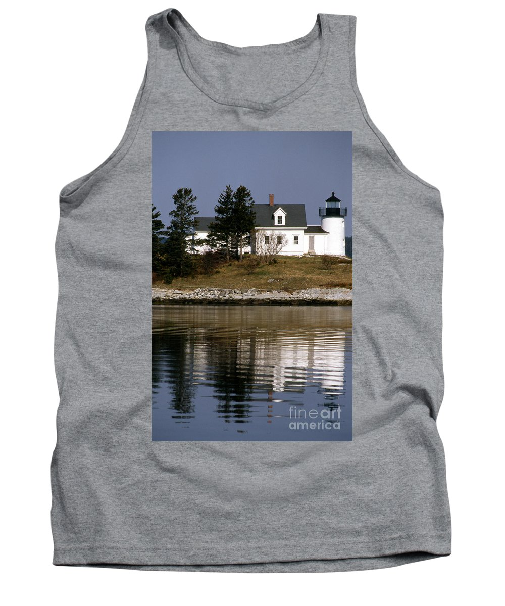Lighthouses Tank Top featuring the photograph Pumpkin Island Lighthouse by Skip Willits