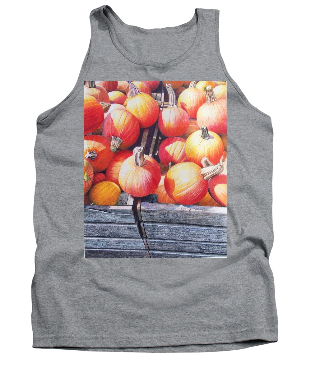 Pumpkins Tank Top featuring the painting Pumpkins by Constance Drescher
