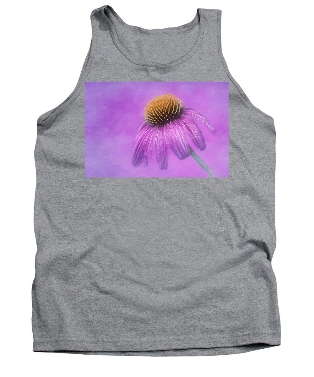Purple Coneflower Tank Top featuring the photograph Purple Coneflower - Echinacea Purpura by Nikolyn McDonald