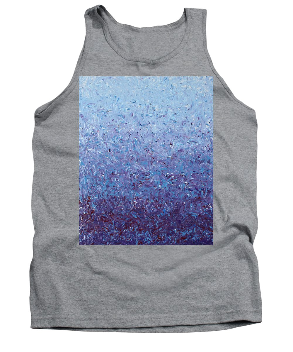 Nonobjective Art Tank Top featuring the painting Purple Gradient by Ric Bascobert
