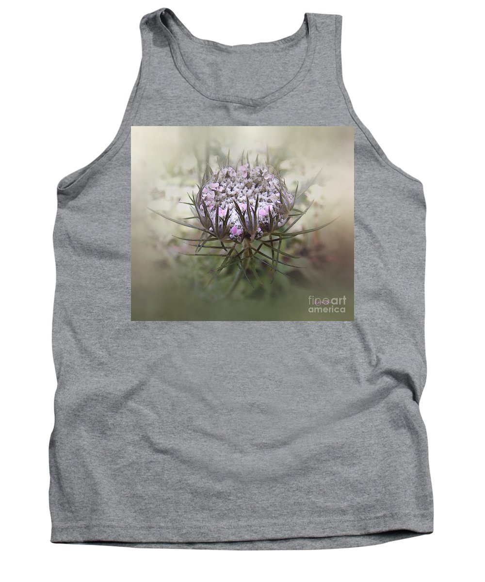 Queen Anne's Lace Tank Top featuring the digital art Queen Of The Mist by RC DeWinter
