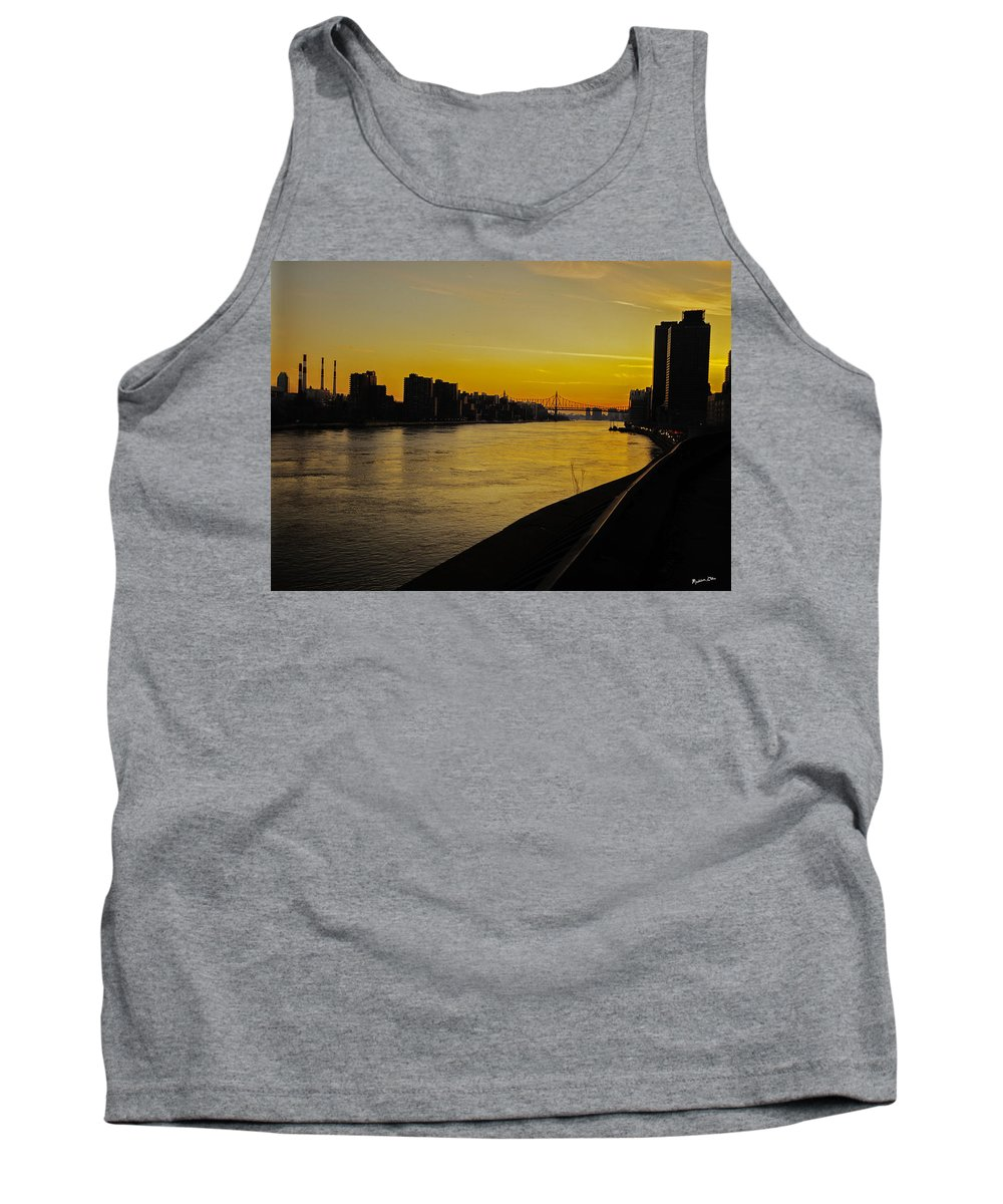 Bridge Tank Top featuring the photograph Queensboro Bridge At Sunset - Nyc by Madeline Ellis