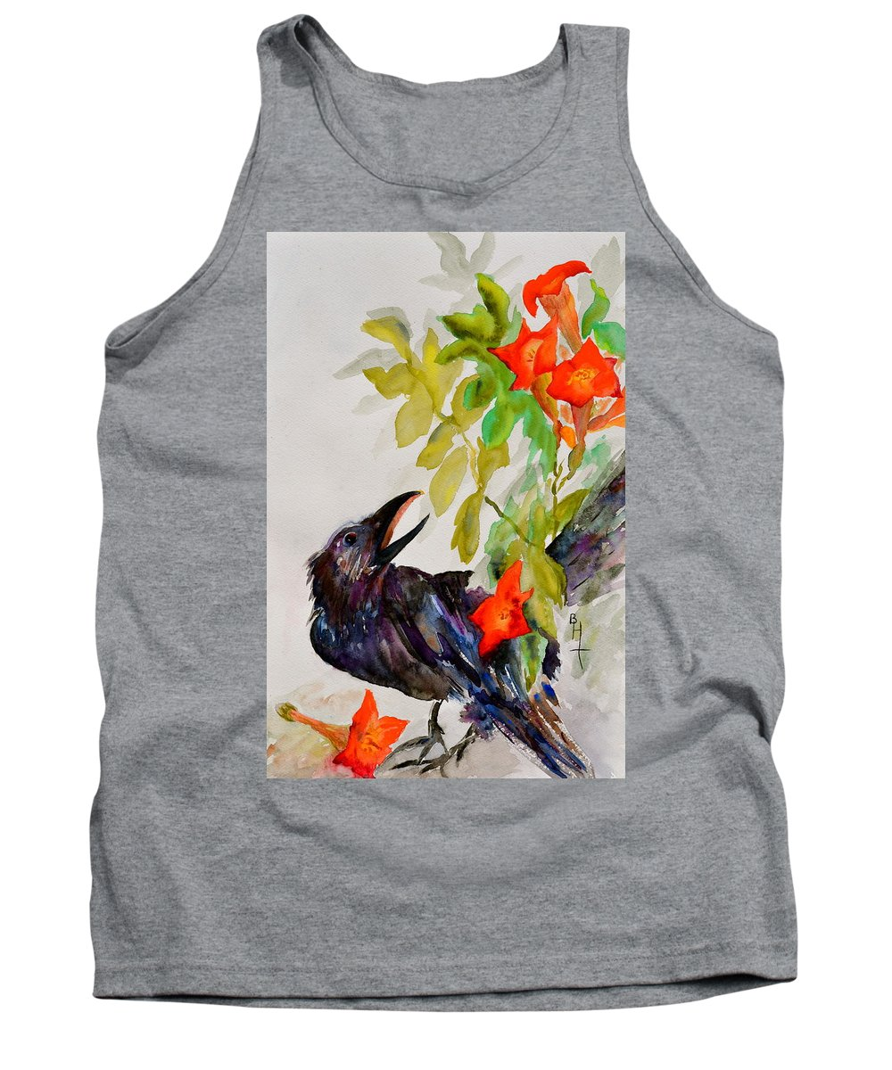 Crow Tank Top featuring the painting Quoi by Beverley Harper Tinsley