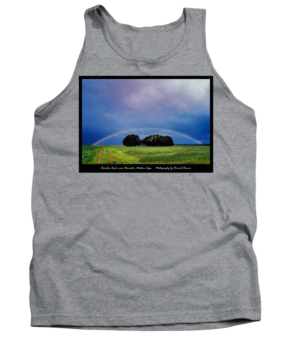 Clouds Tank Top featuring the digital art Rainbow Arch Near Worcester by Vincent Franco