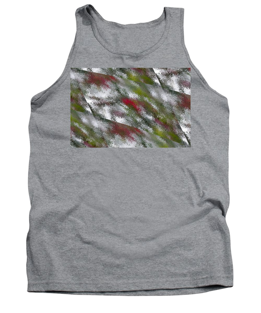 Rain Tank Top featuring the digital art Rainy Day In Clear by Angela Stanton