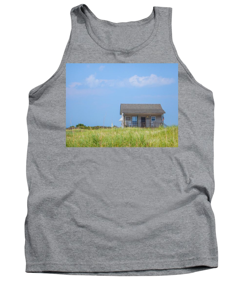 Long Point Cabins Tank Top featuring the photograph Ranger Cabin by Paula OMalley