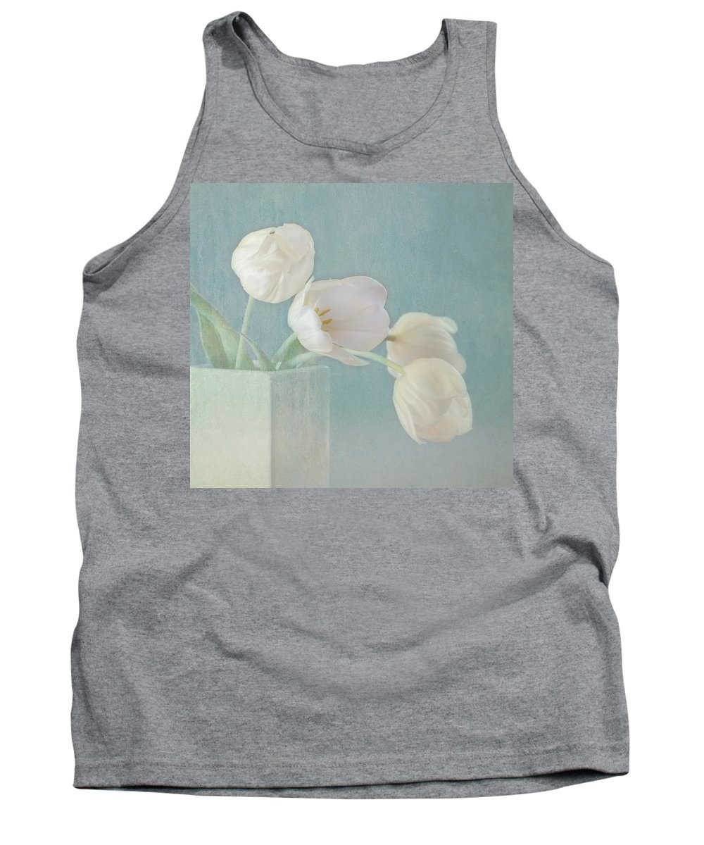 White Flower Tank Top featuring the photograph Ray Of Beauty by Kim Hojnacki