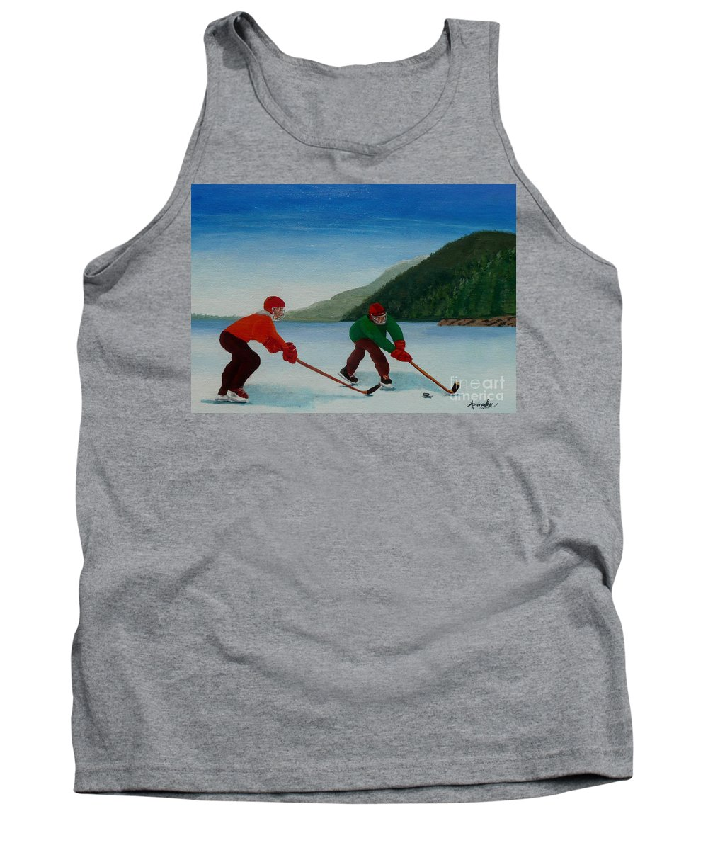 Pond Tank Top featuring the painting Reach For It by Anthony Dunphy