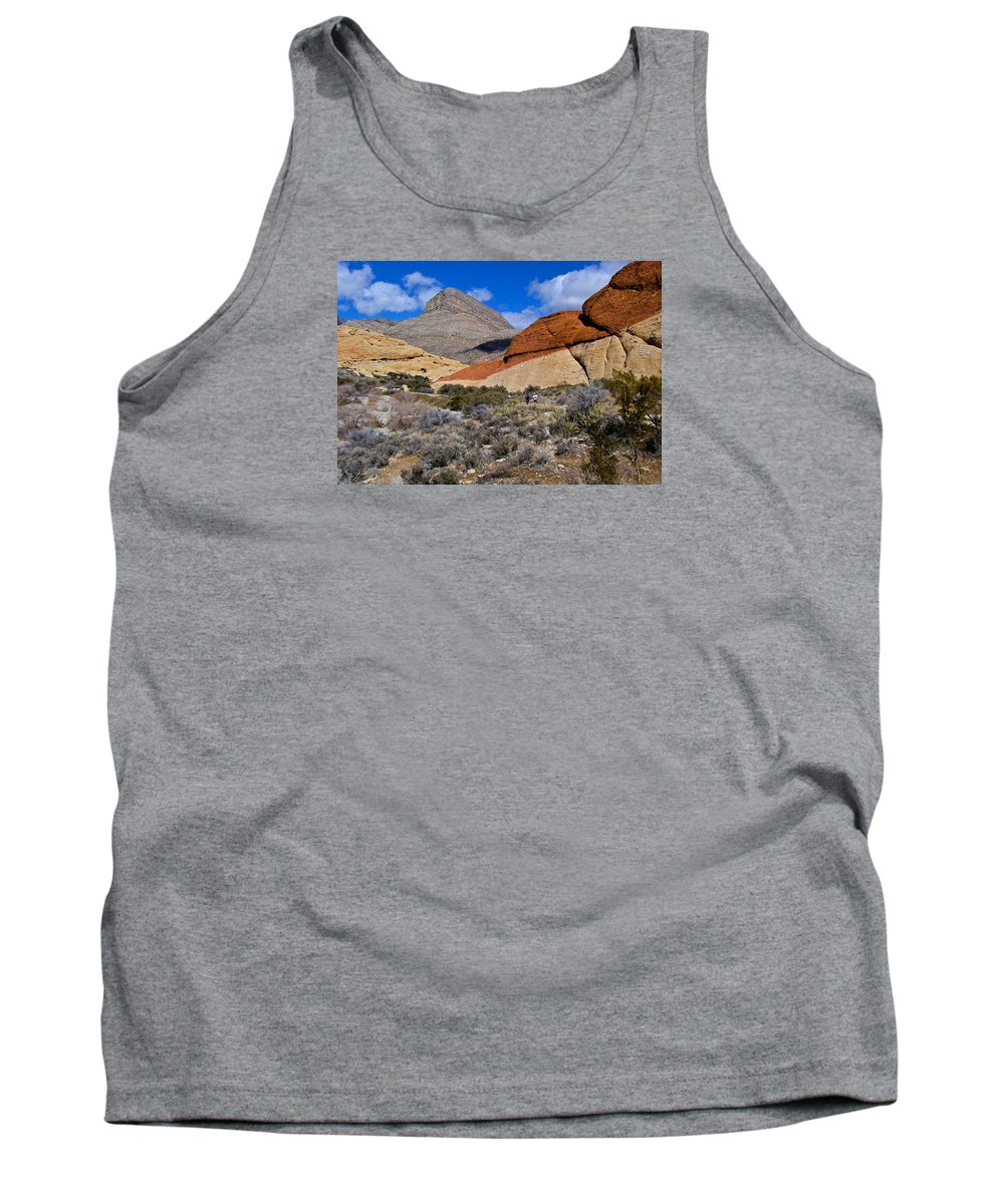 Red Rock Canyon Tank Top featuring the photograph Red Rock Canyon Nevada by Venetia Featherstone-Witty