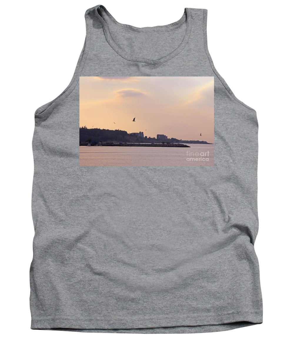 Nessebar Tank Top featuring the photograph Red Sunset In Nessebar by Lali Kacharava