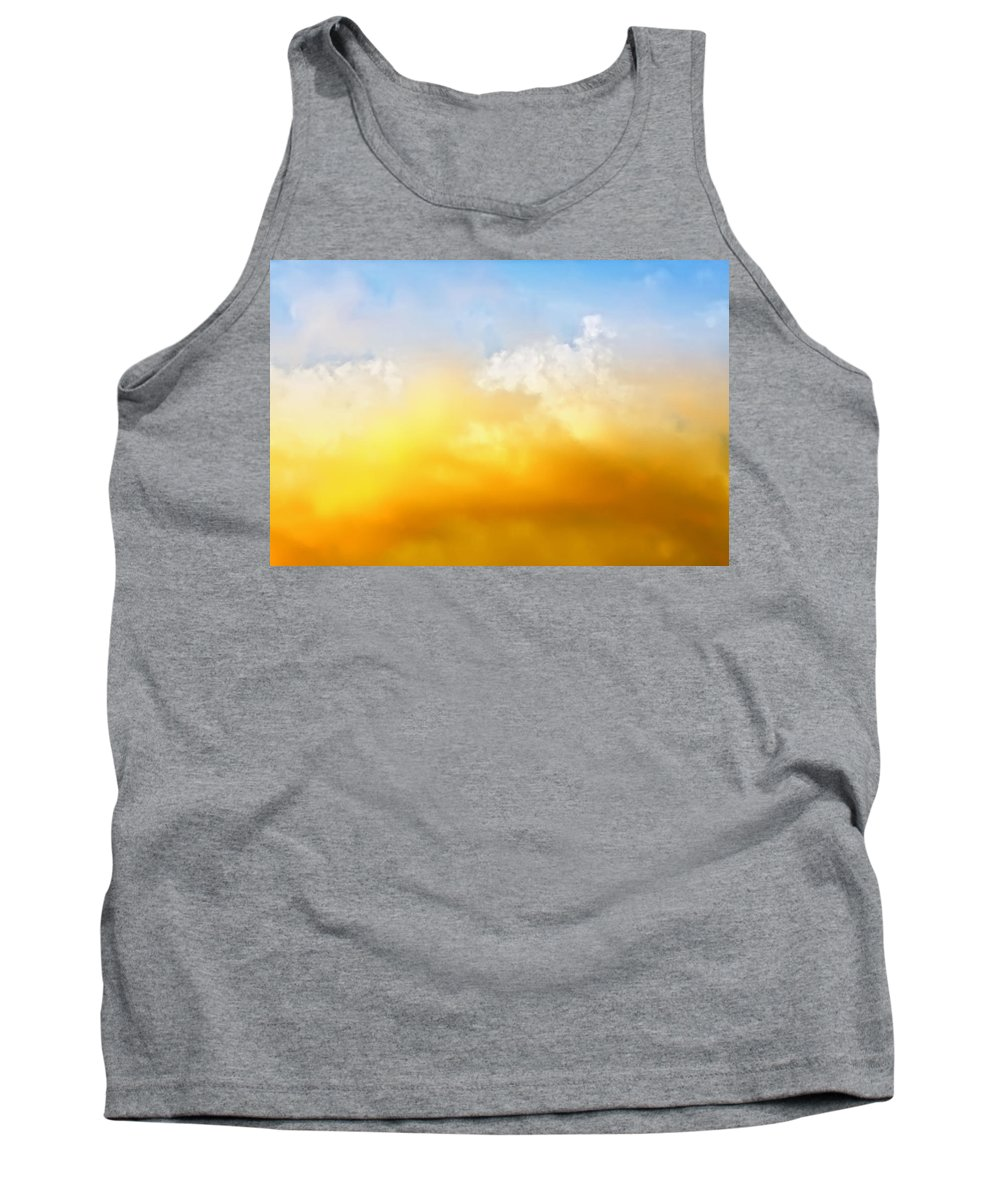 Sunset Tank Top featuring the photograph Red White Clouds by Jan Brons
