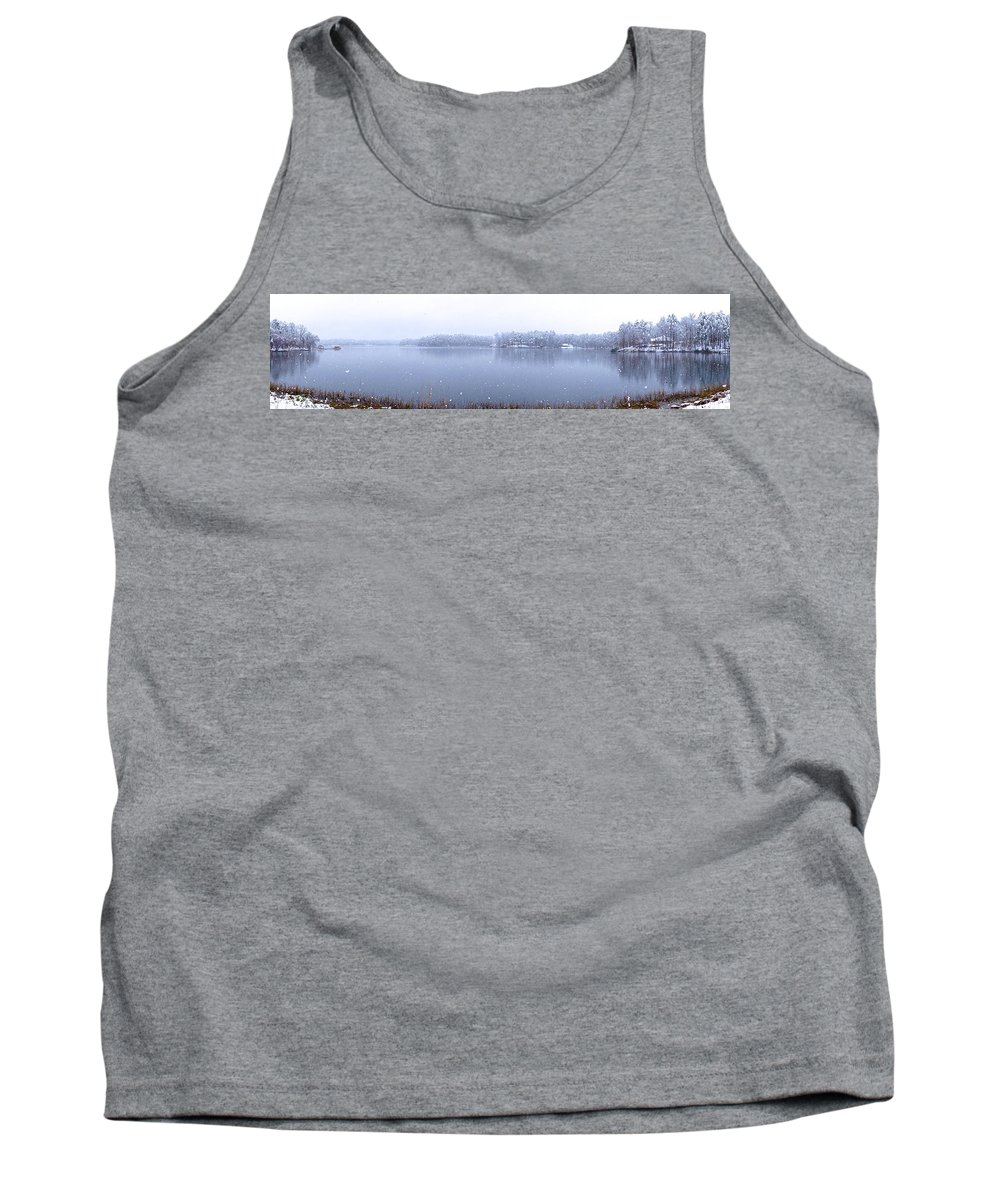 Reflection Tank Top featuring the photograph Reflections Of Winter by Charlie and Norma Brock