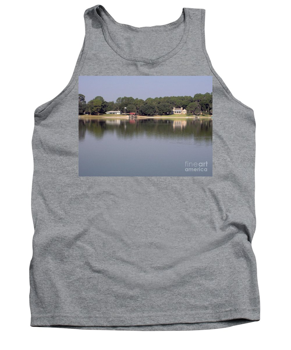 River Tank Top featuring the photograph Reflections - On - Lake Weir by D Hackett
