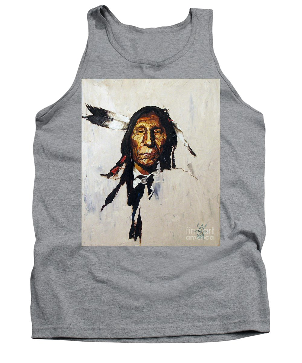 Southwest Art Tank Top featuring the painting Remember by J W Baker