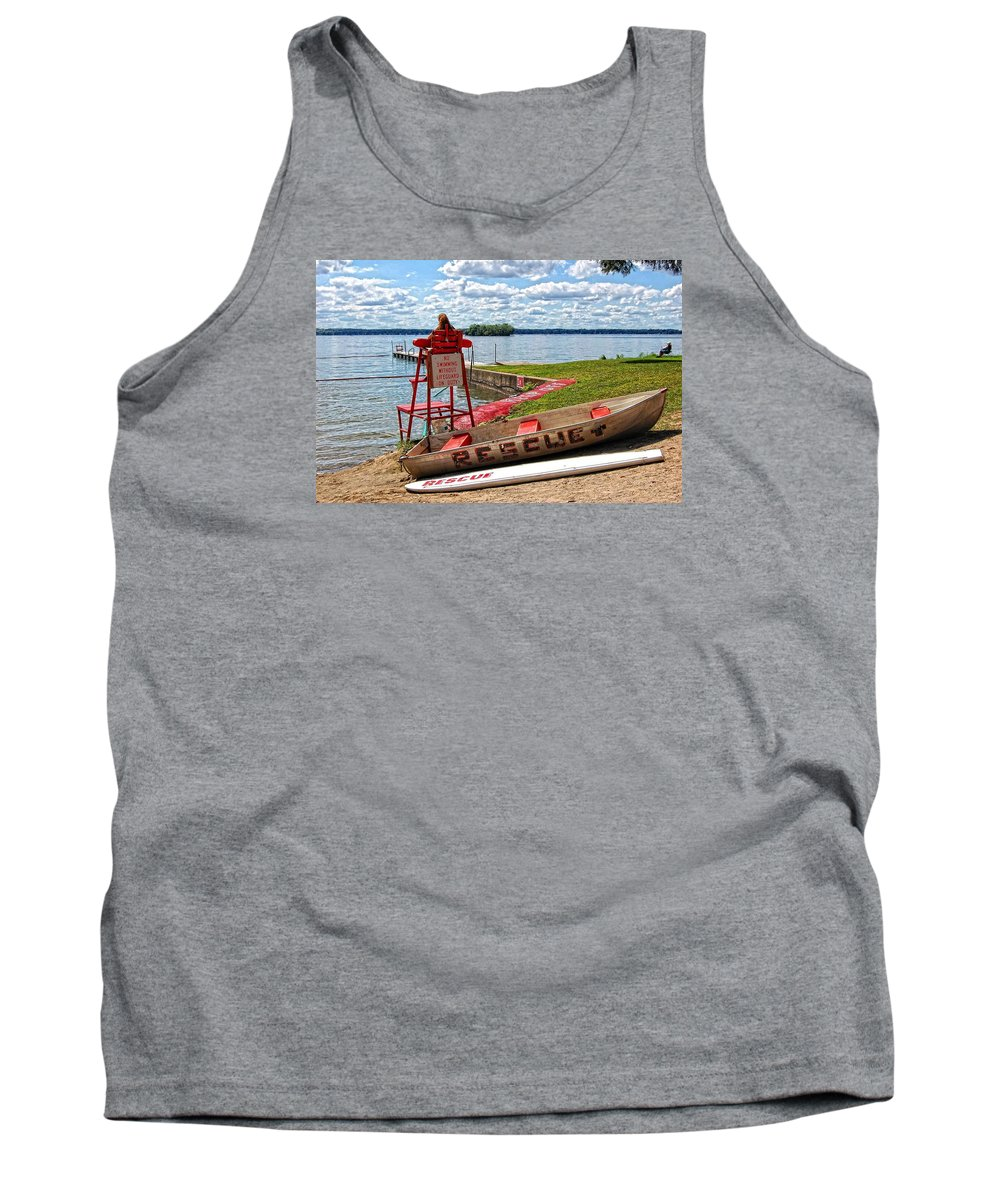 Summer Tank Top featuring the photograph Rescue by Marvin Borst