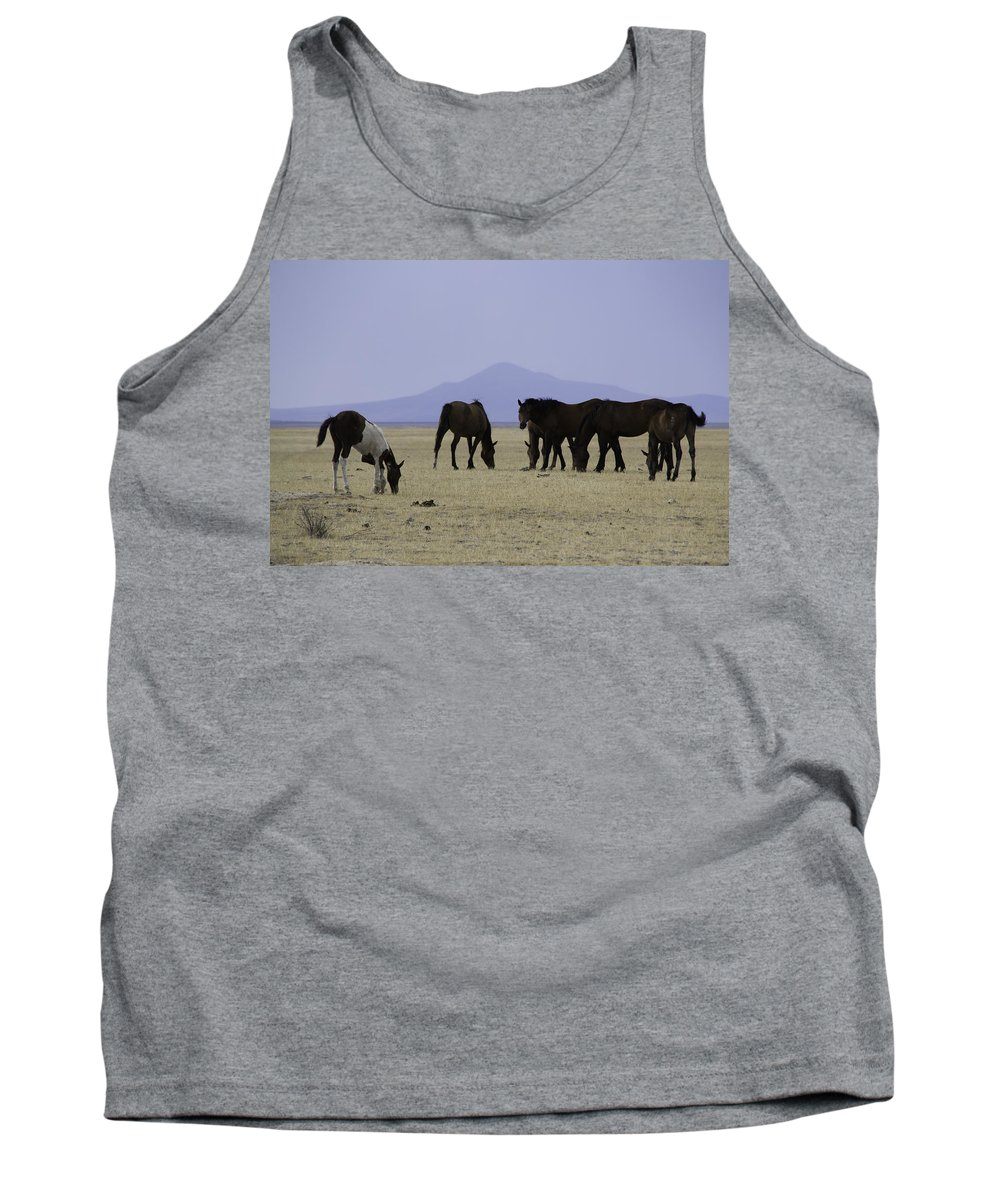Horses Tank Top featuring the photograph Reservation Horses 4 by Karen W Meyer