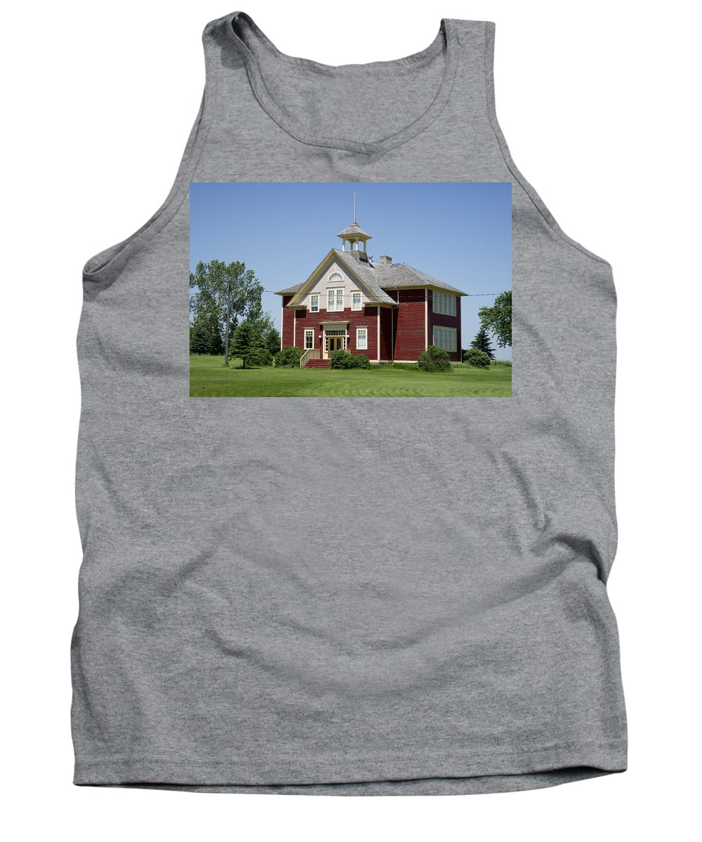 School Tank Top featuring the photograph Restored Small Town School by Donald Erickson