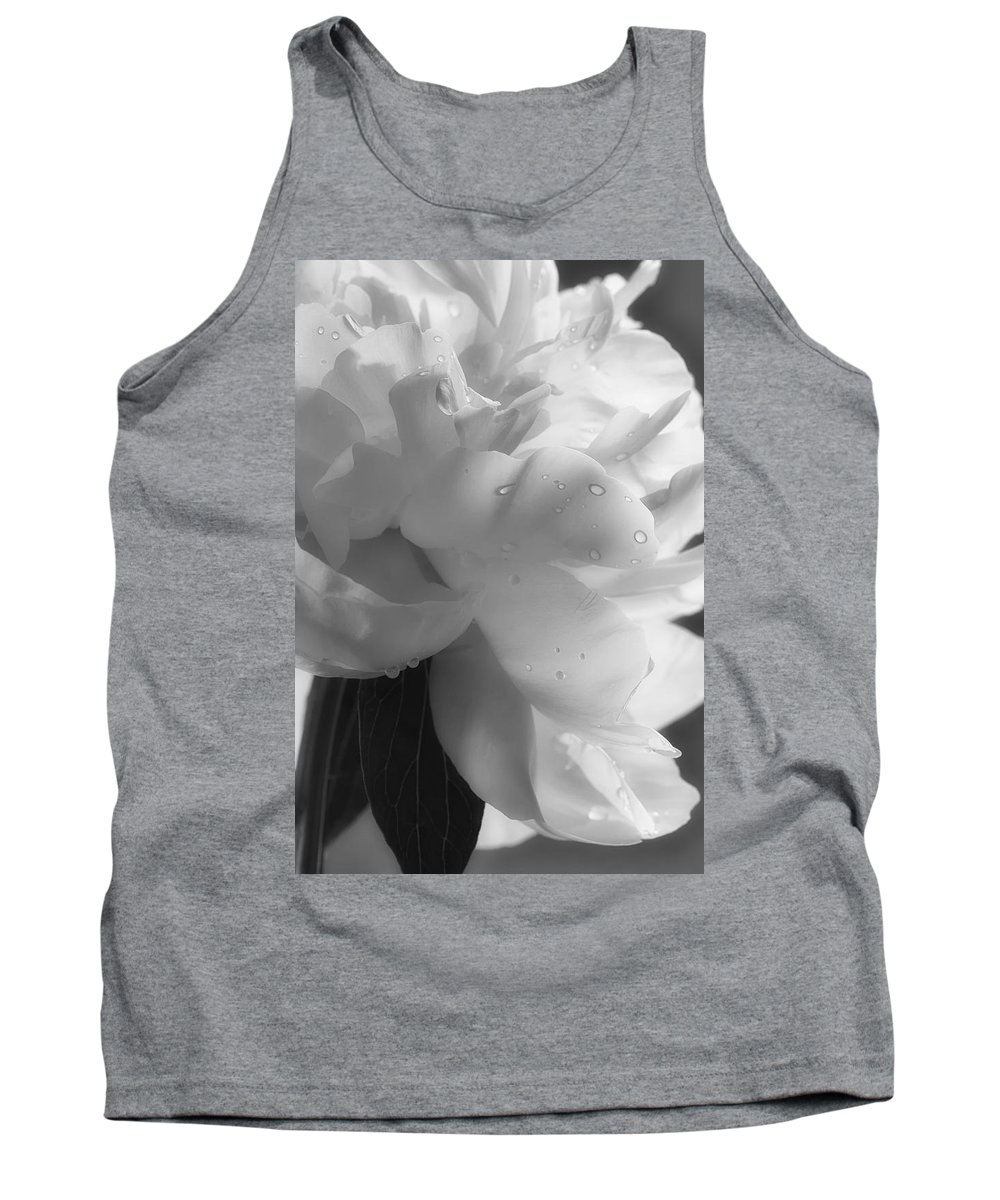 Black And White Tank Top featuring the photograph Ridges by Linda Dunn