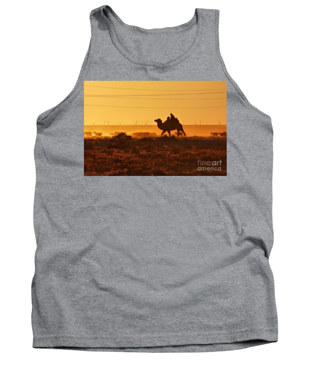 Tank Top featuring the photograph Riding Into The Sunset by Karla Weber