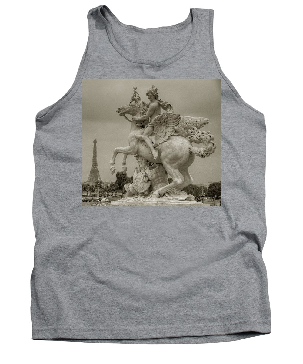 Paris Tank Top featuring the photograph Riding Pegasis by Michael Kirk