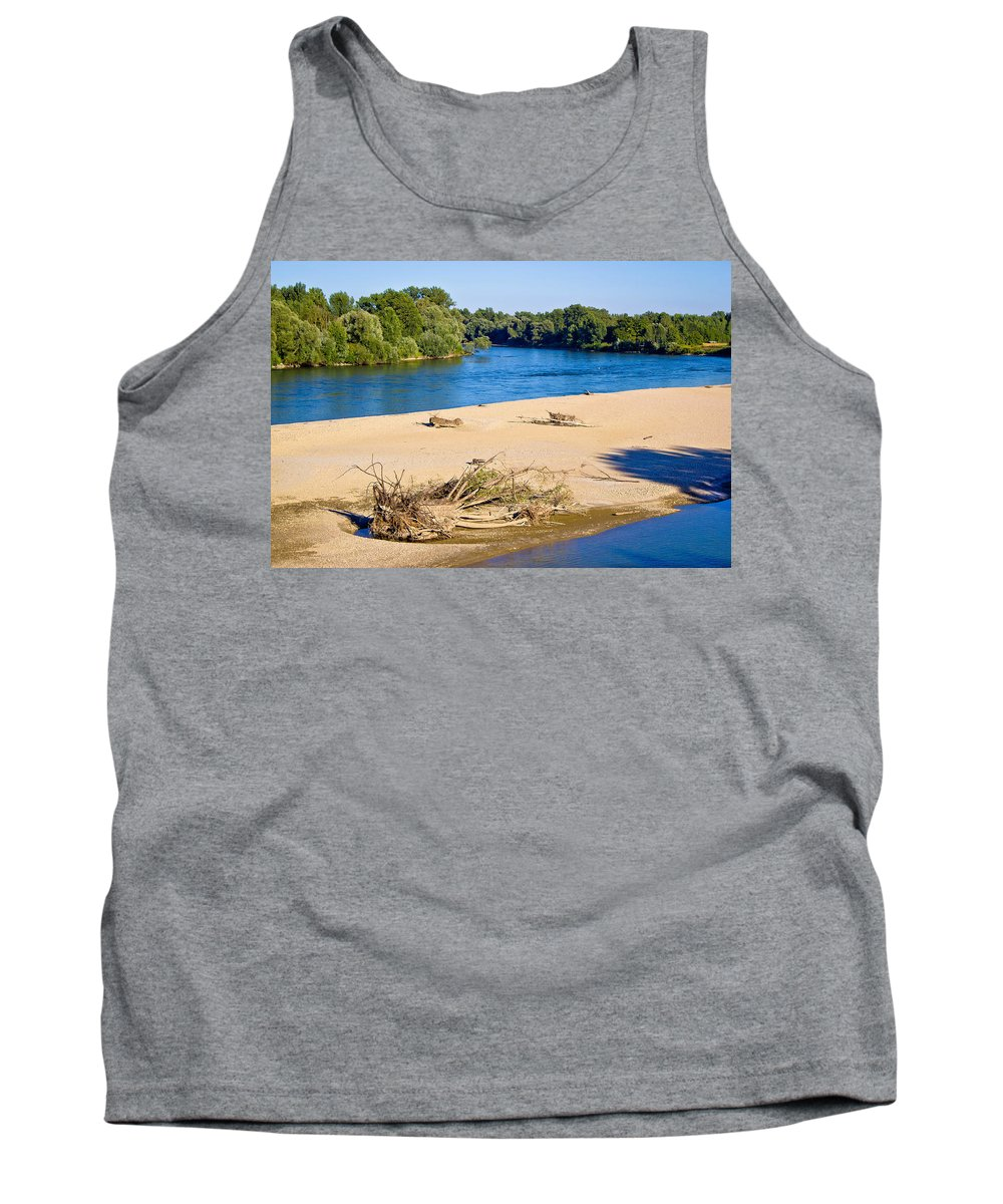 Drava Tank Top featuring the photograph River Of Drava Green Nature by Brch Photography