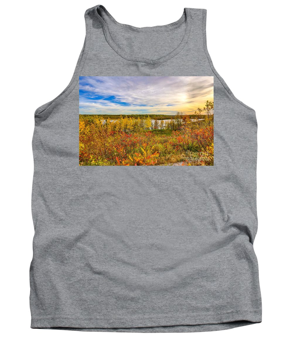 River Tank Top featuring the photograph River Sunset by Bryan Benson