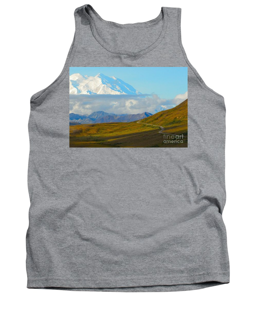 Mt Mckinley Tank Top featuring the photograph Road To The High One by Yinguo Huang