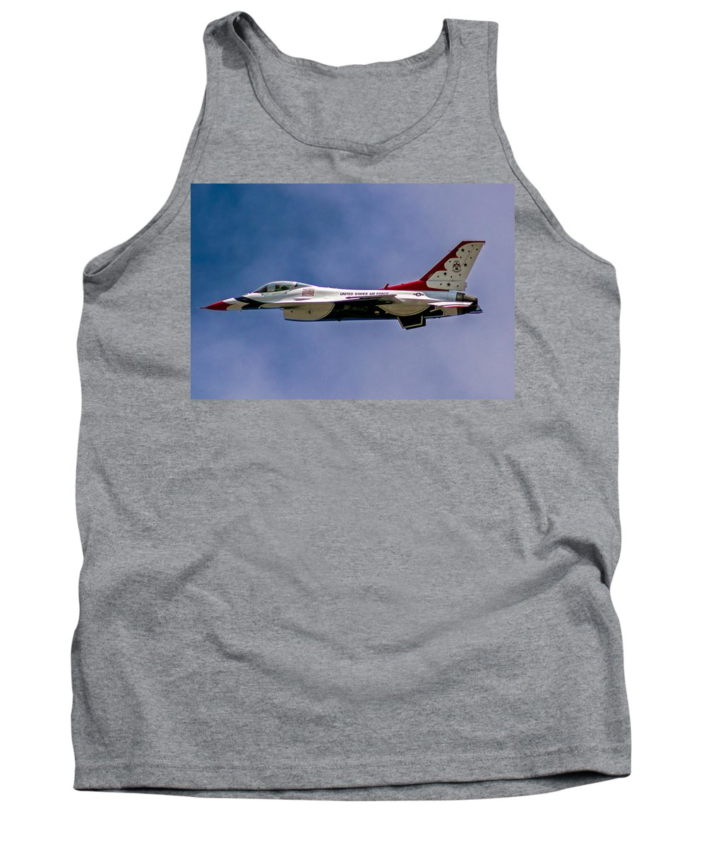 Rochester Tank Top featuring the photograph Rochester Air Show Thunderbirds by Tim Buisman