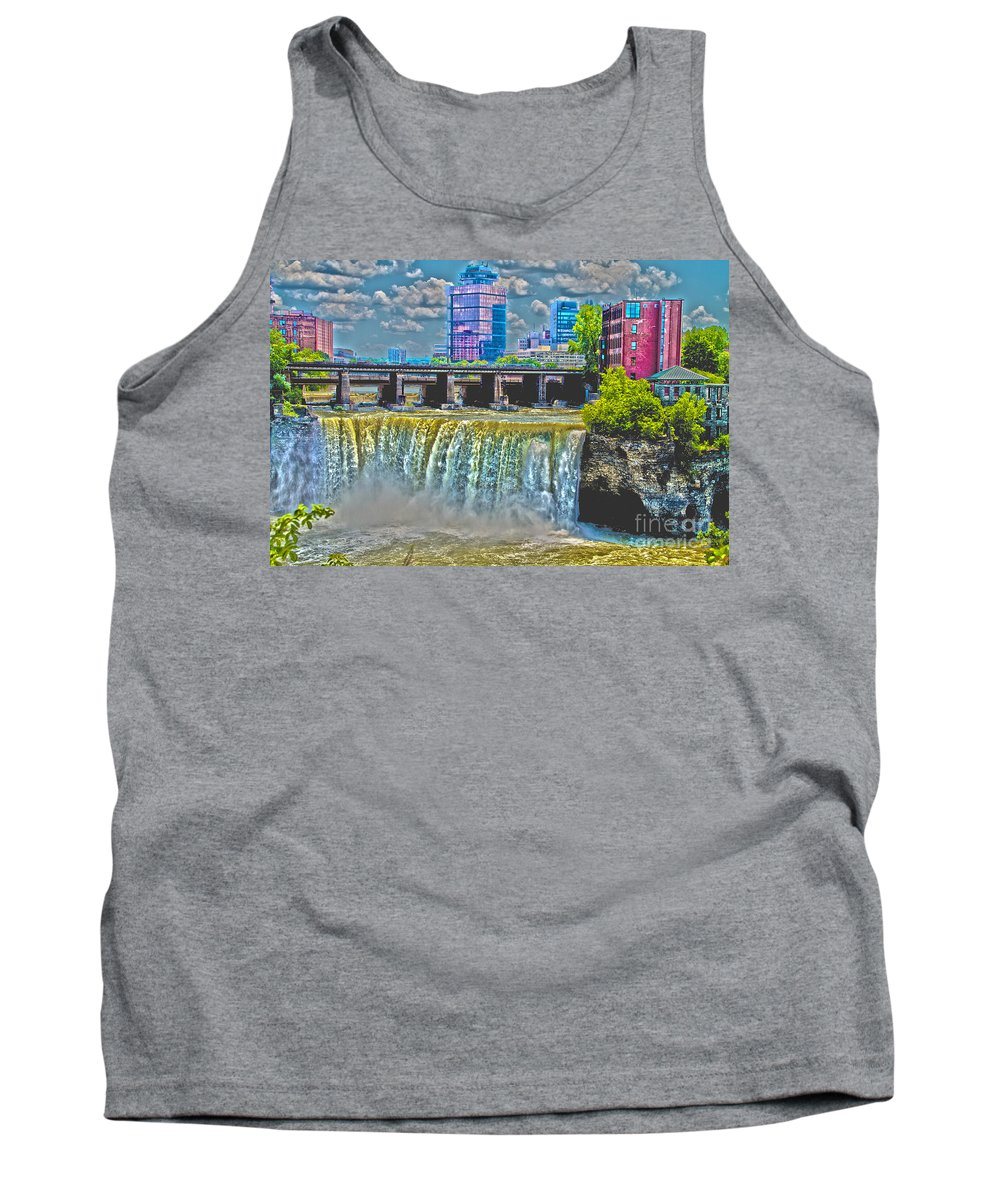 Rochester Tank Top featuring the photograph Rochester High Falls by William Norton