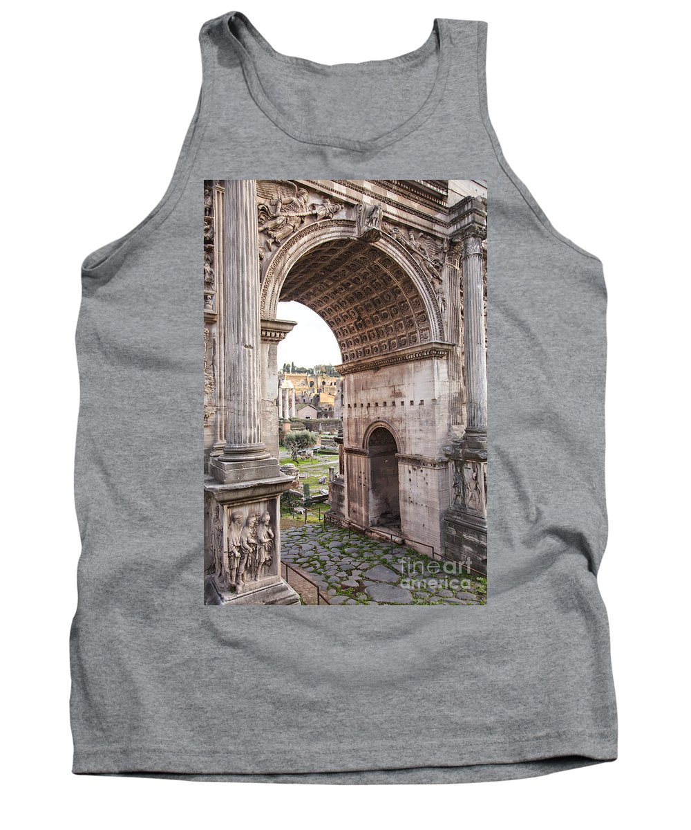 Arch Tank Top featuring the photograph Roman Forum Arch by Sophie McAulay