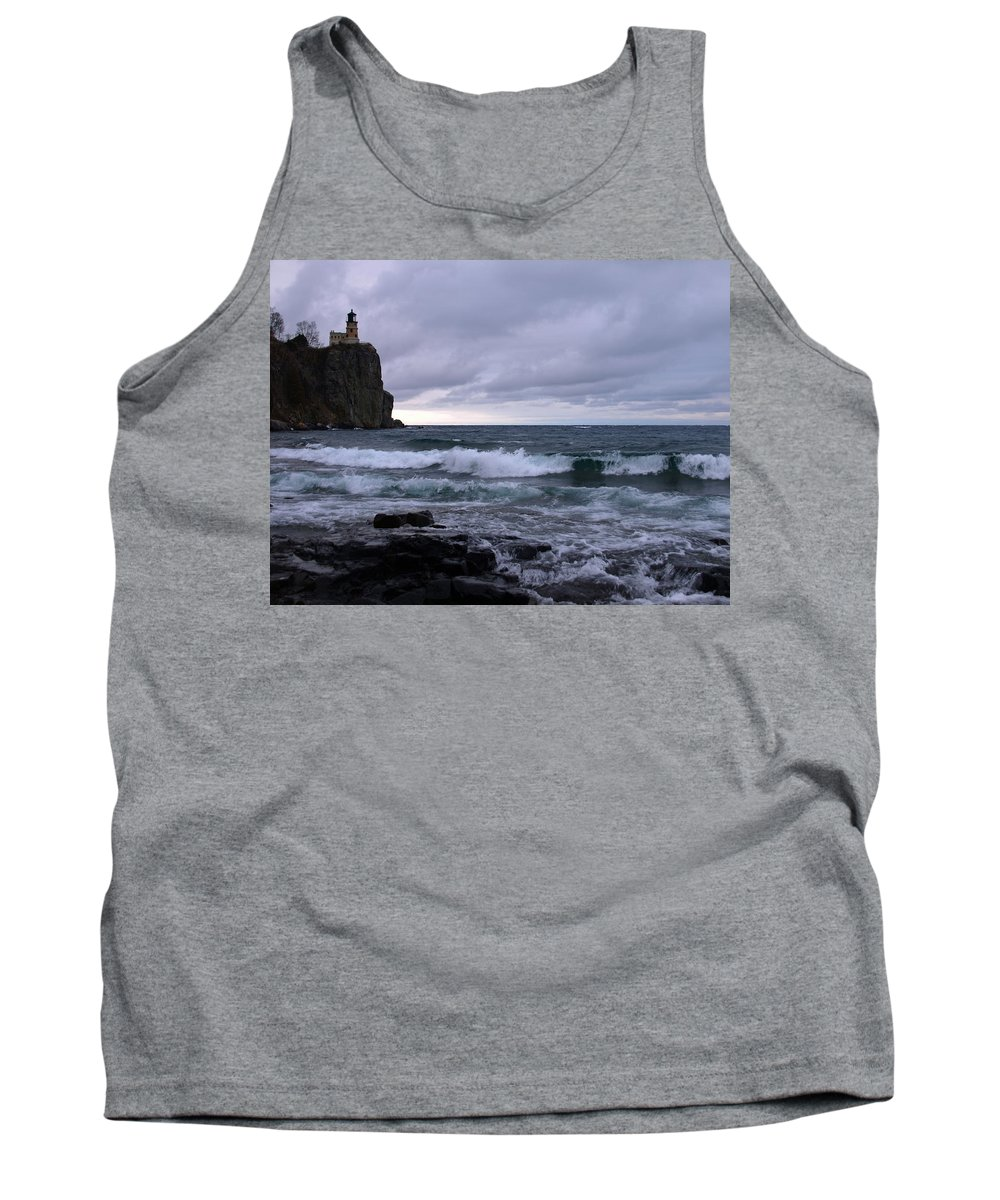 Nature Tank Top featuring the photograph Rough Surf At Split Rock by James Peterson