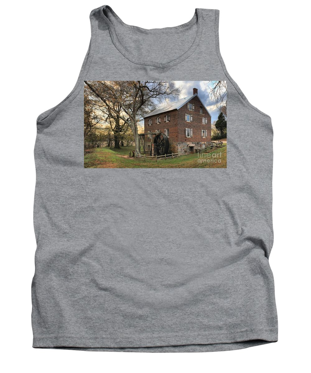 Kerr Mill Tank Top featuring the photograph Rowan County Grist Mill by Adam Jewell