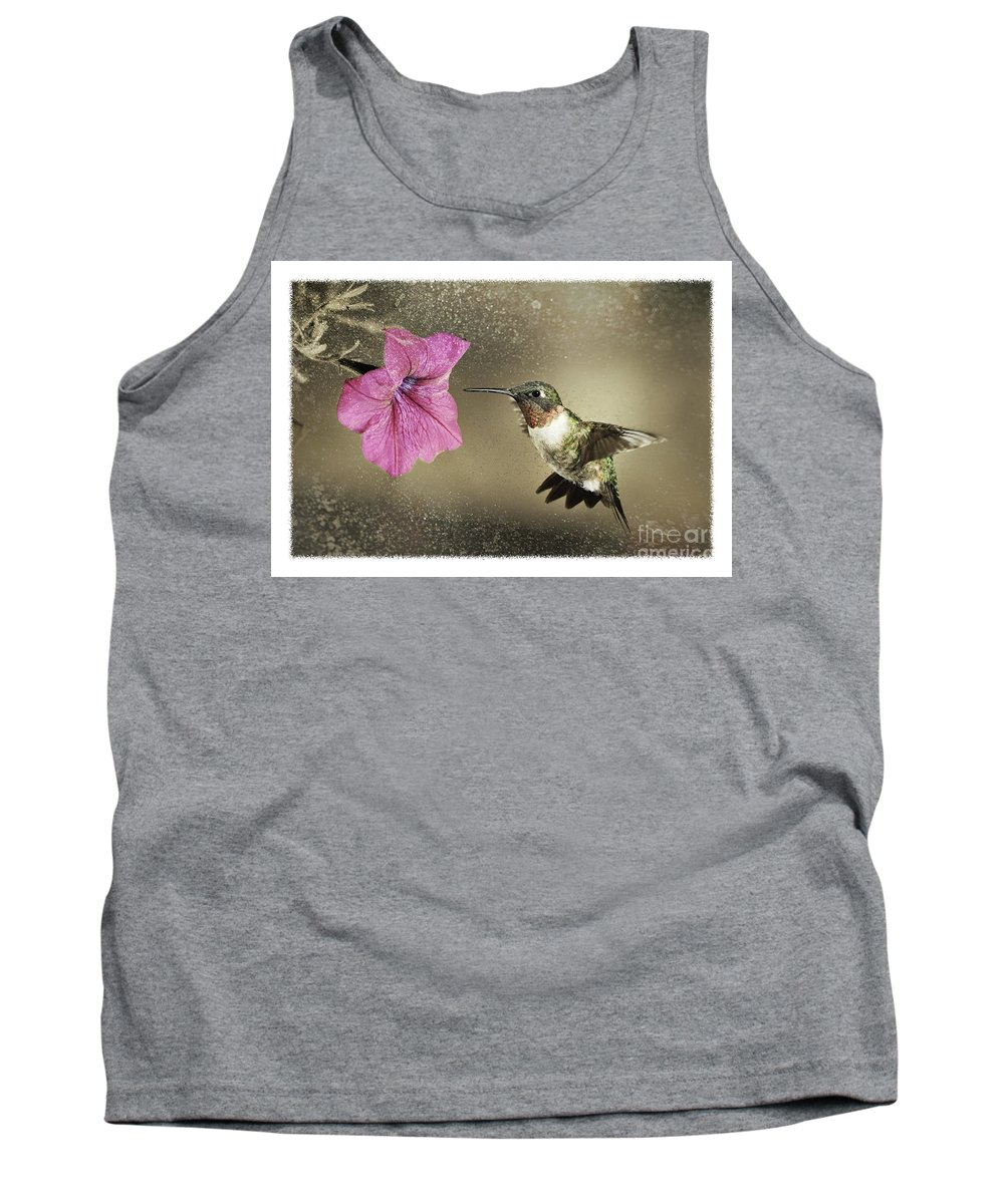 Ruby-throated Tank Top featuring the photograph Ruby - D004190 by Daniel Dempster