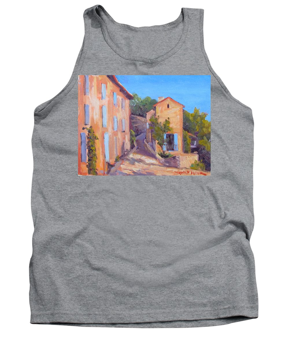 Gordes Tank Top featuring the painting Rue de Gordes by Dianne Panarelli Miller
