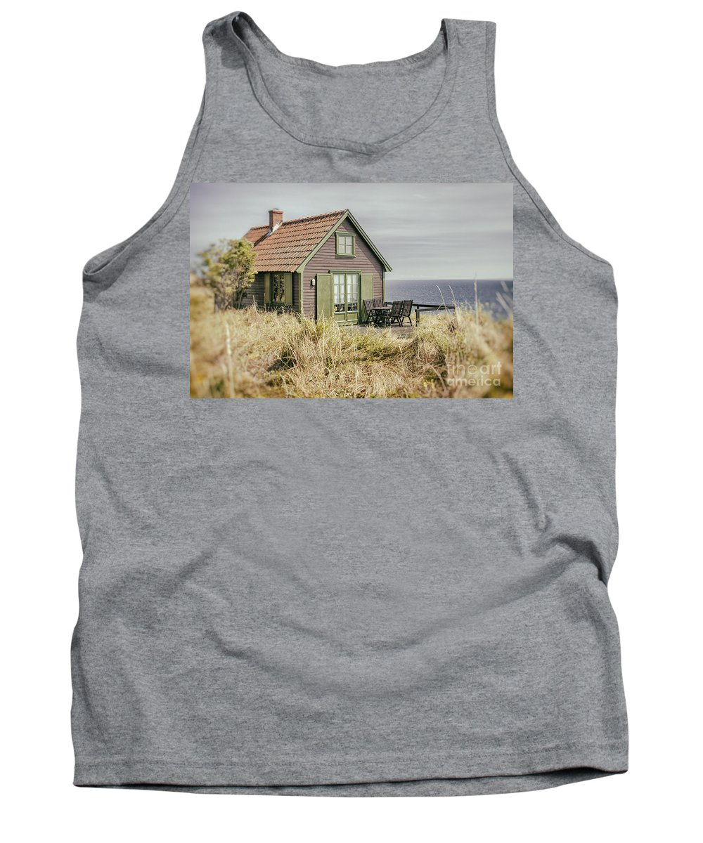 Sweden Tank Top featuring the photograph Rustic Seaside Cottage by Sophie McAulay