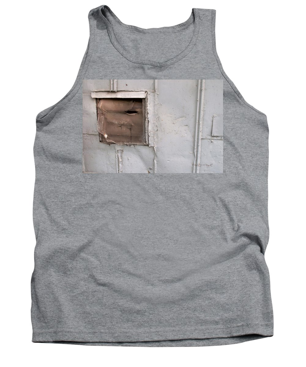 Feature Art Tank Top featuring the photograph Rusty Vent Face by Paulette B Wright