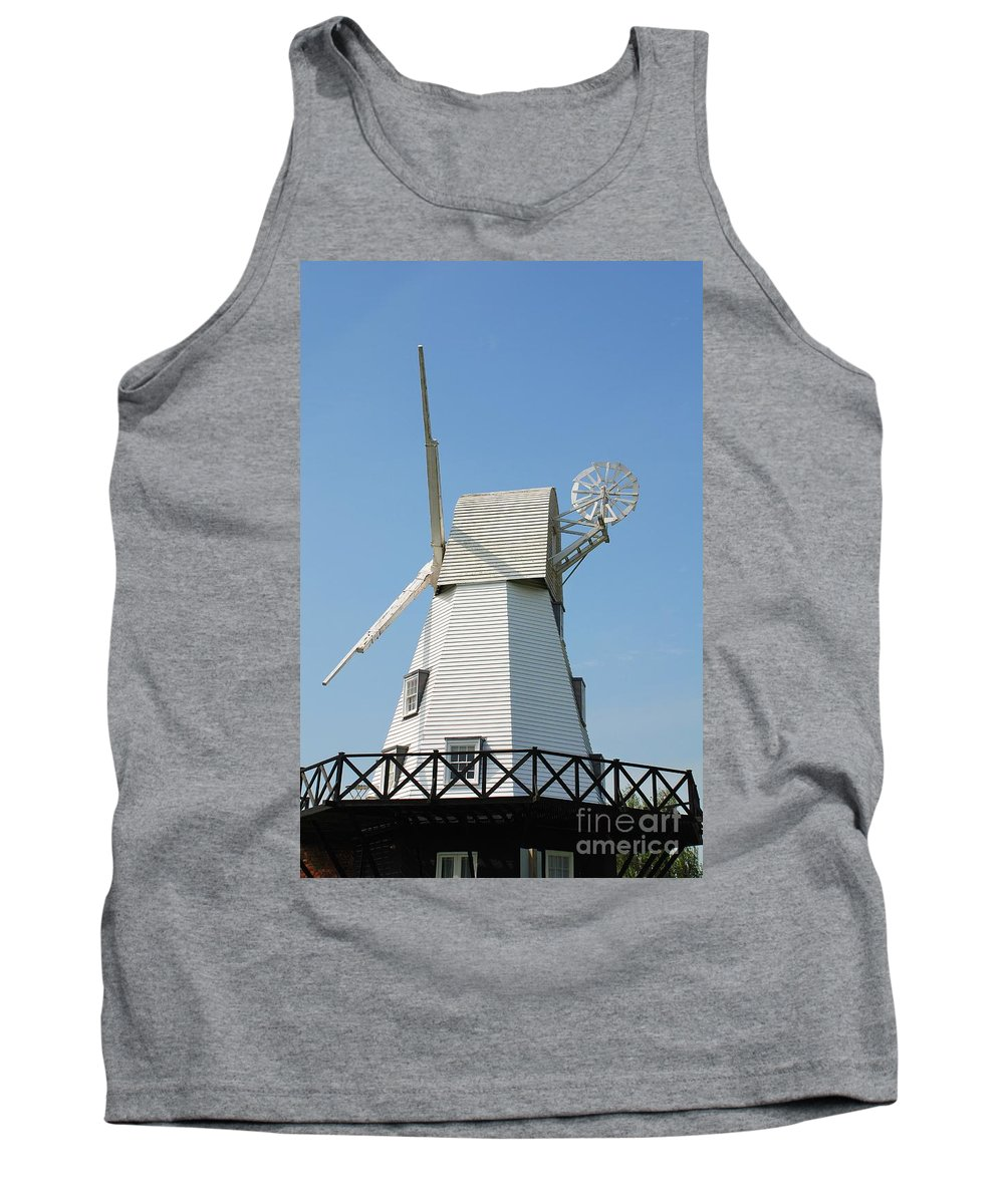 Windmill Tank Top featuring the photograph Rye Windmill by David Fowler