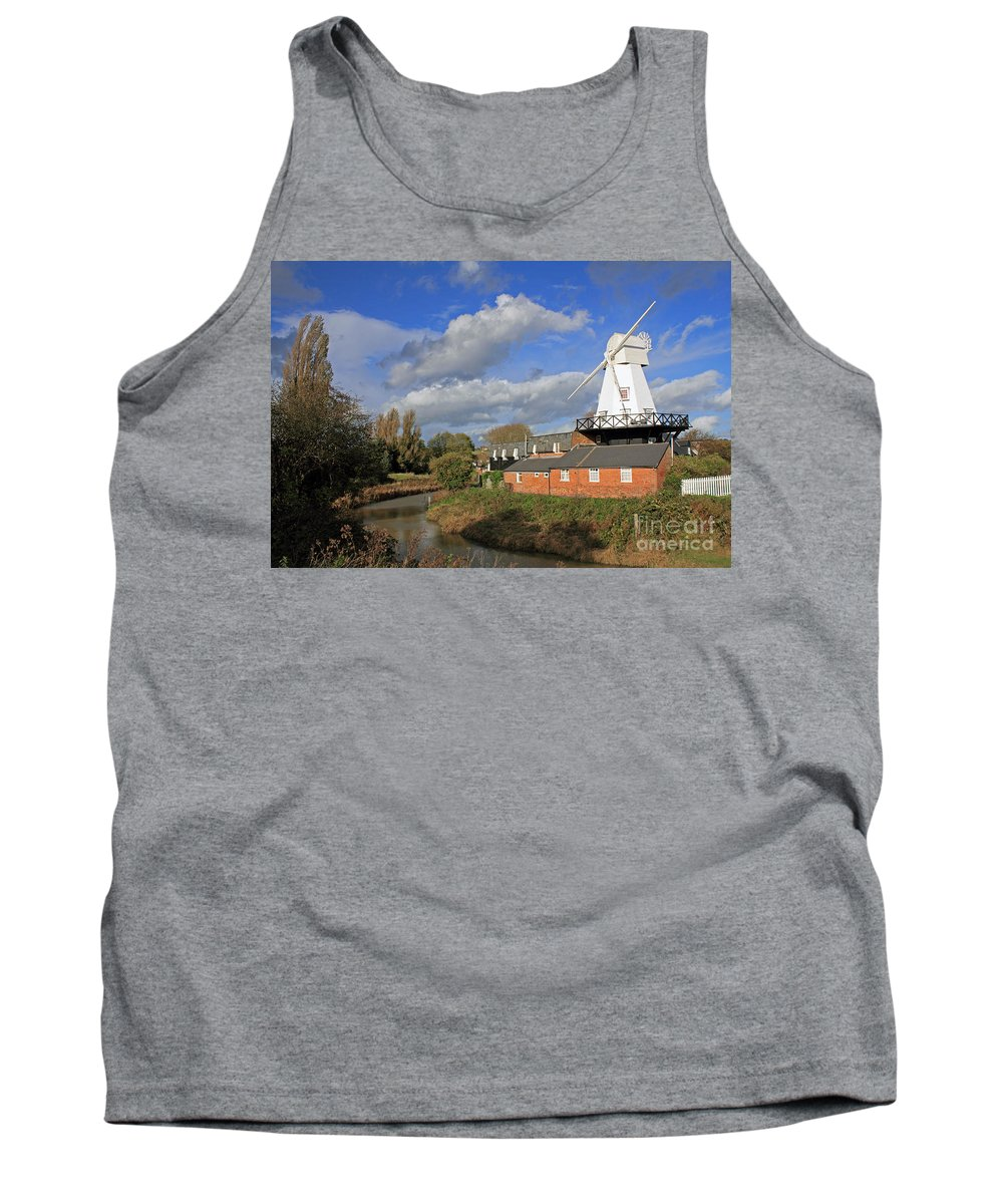 Rye Windmill Uk Sussex River British English Countryside Landscape Tank Top featuring the photograph Rye Windmill by Julia Gavin
