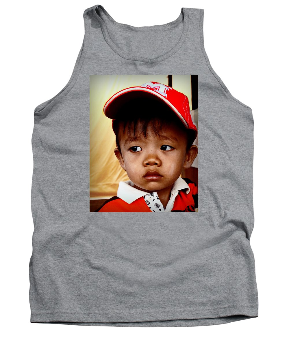 Portrait Tank Top featuring the photograph Sad Eyes by Ian Gledhill