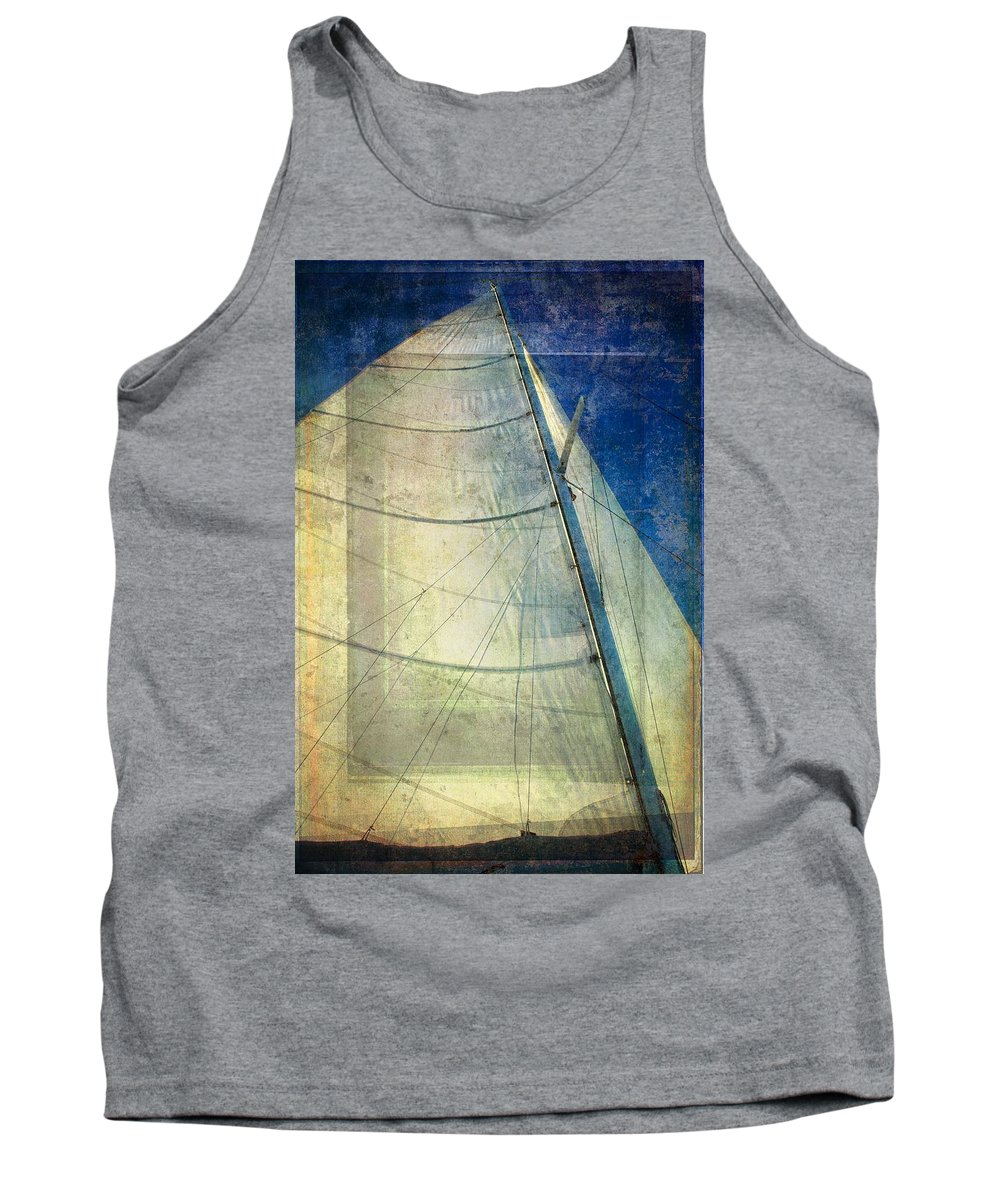 Sailboat Tank Top featuring the photograph Sail Texture by Alice Gipson