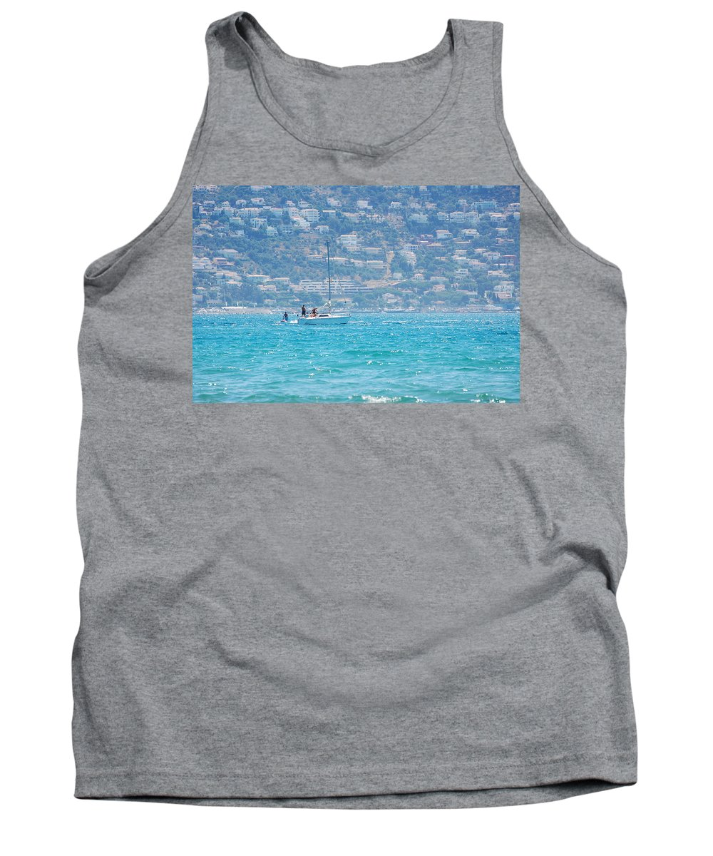 Sail Tank Top featuring the photograph Sailing by Gina Dsgn